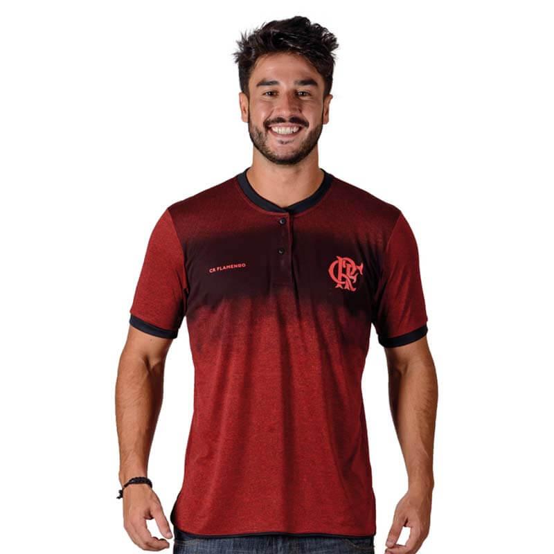 Camisa Flamengo Polo Gang Braziline - EspacoRubroNegro 049711650a35a