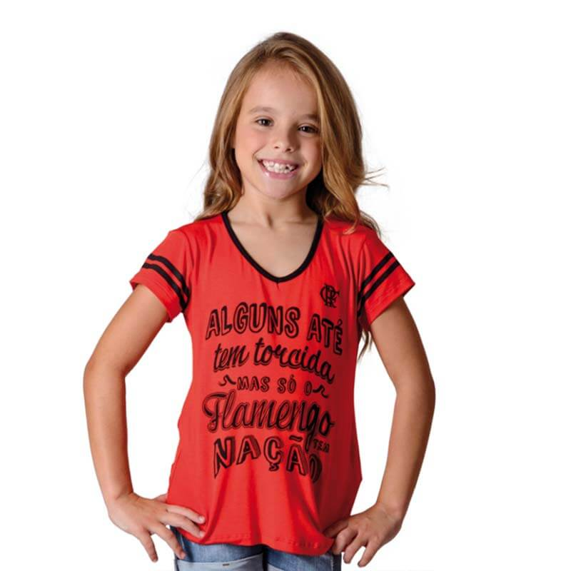 Camisa Flamengo Infantil Nation Braziline