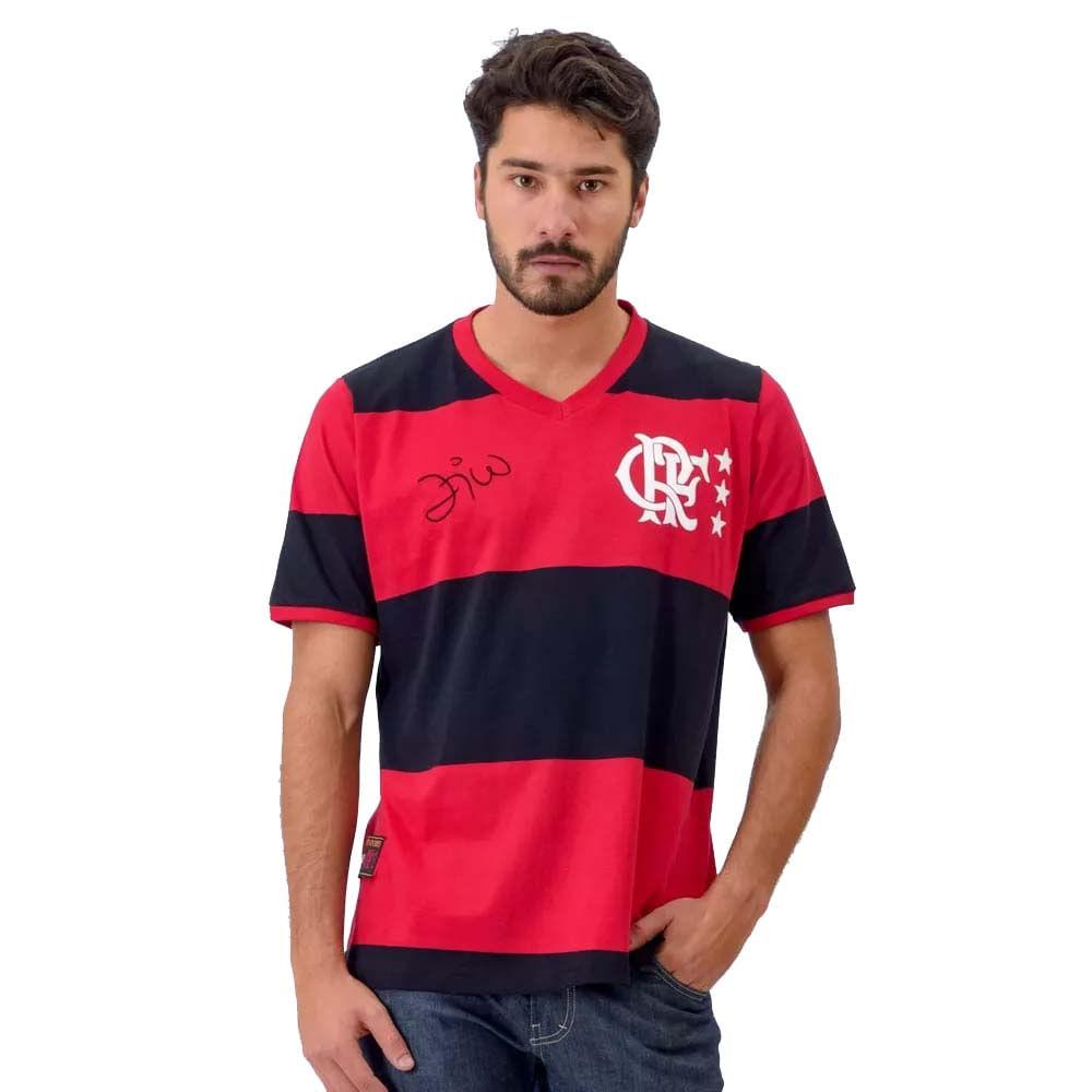 Camisa Fla Libertadores Zico - EspacoRubroNegro d514df891479e
