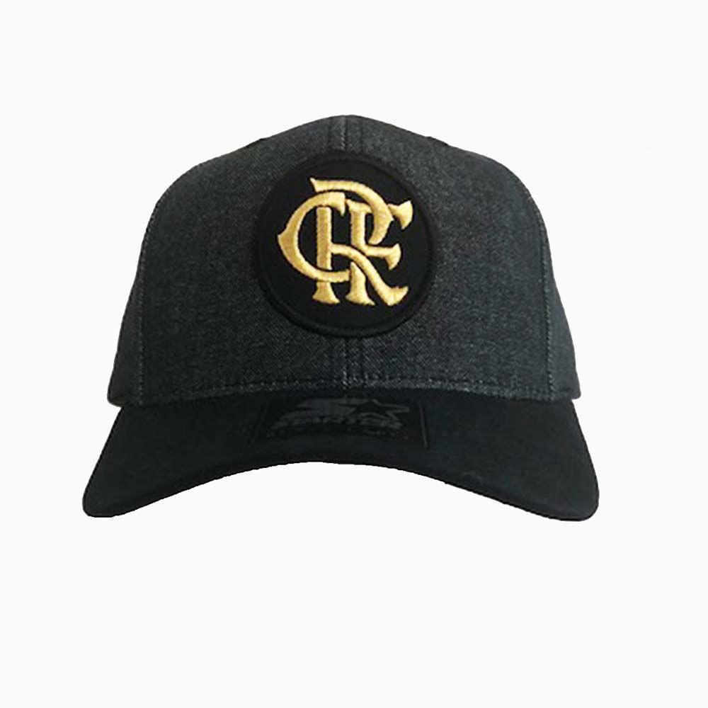 Boné Flamengo CRF Menor Bordado Dourado Starter - EspacoRubroNegro 086649b5f4d