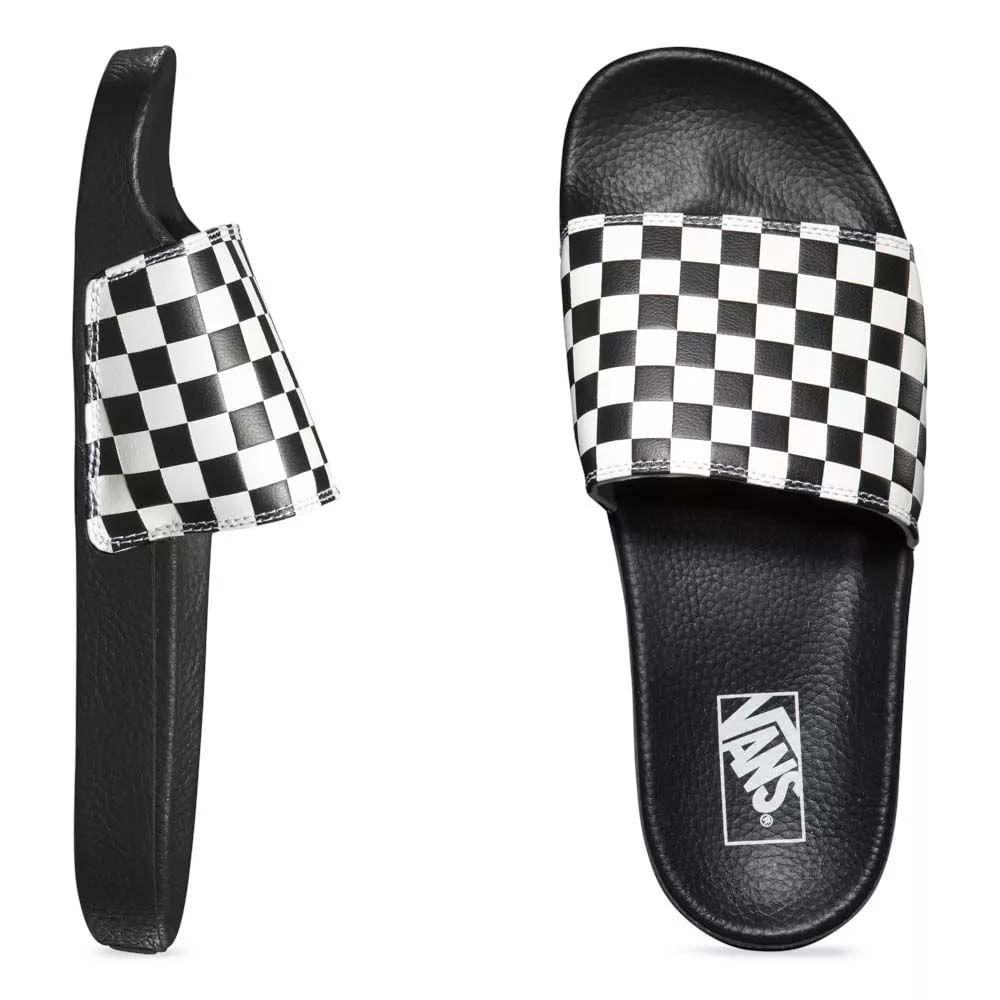 1dbaa4290e9 Chinelo Vans Slide-On Checkerboard Black   White VNB004KIIP9 - WQSurf
