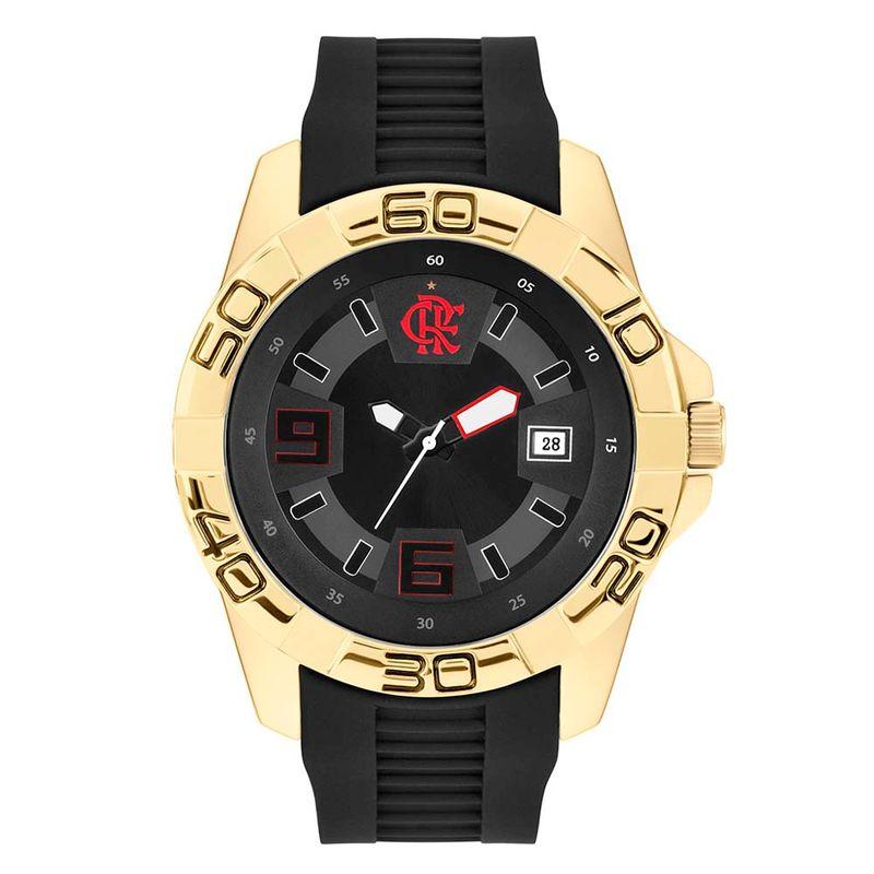 73ad6683076 Relógio Flamengo Maestro Júnior Dourado - EspacoRubroNegro