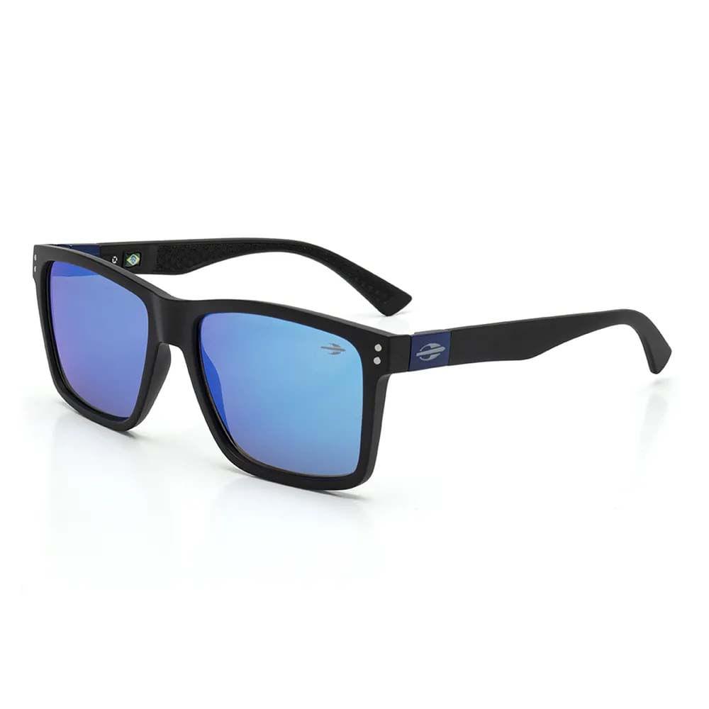 498c4c6dfa104 Óculos Mormaii Cairo Preto Fosco Lente Revo Azul Ice M0075A1497 - WQSurf