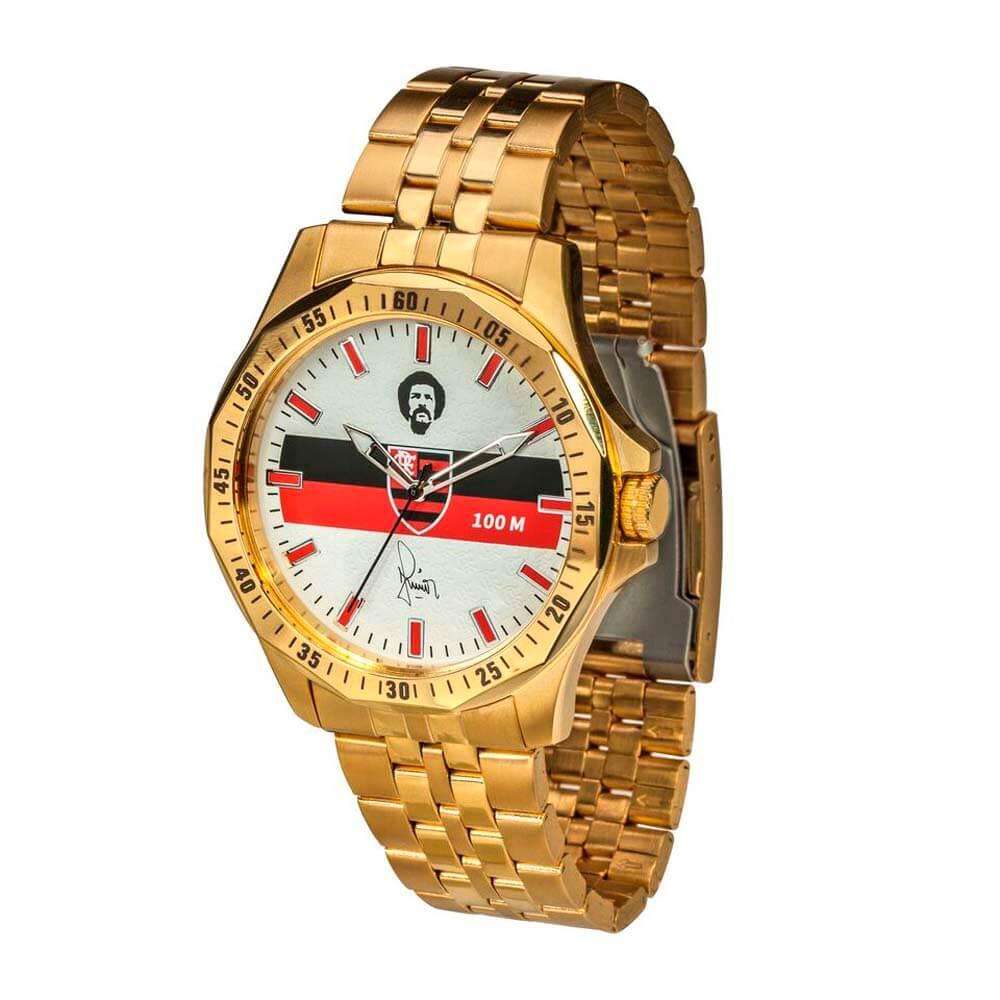 9615104cdd7b8 Relógio Flamengo Maestro Júnior Dourado - EspacoRubroNegro