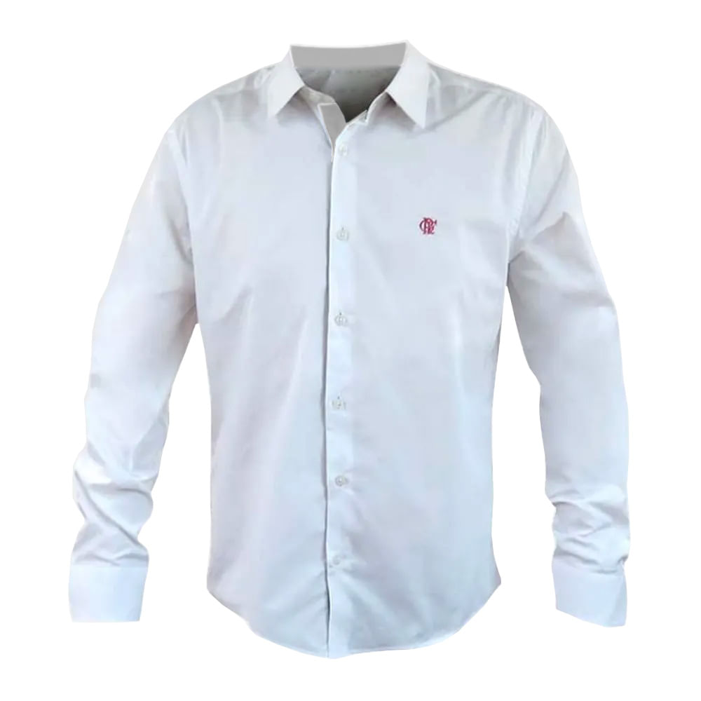 97453cfa1b Camisa Flamengo Social Hat Trick Branca - EspacoRubroNegro
