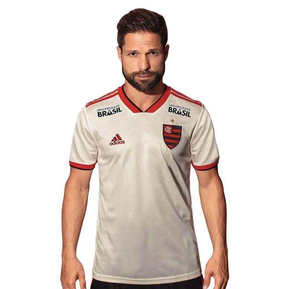 9a99c9bbf Camisa Flamengo Jogo 2 Adidas 2018 - Com Patrocínios - EspacoRubroNegro