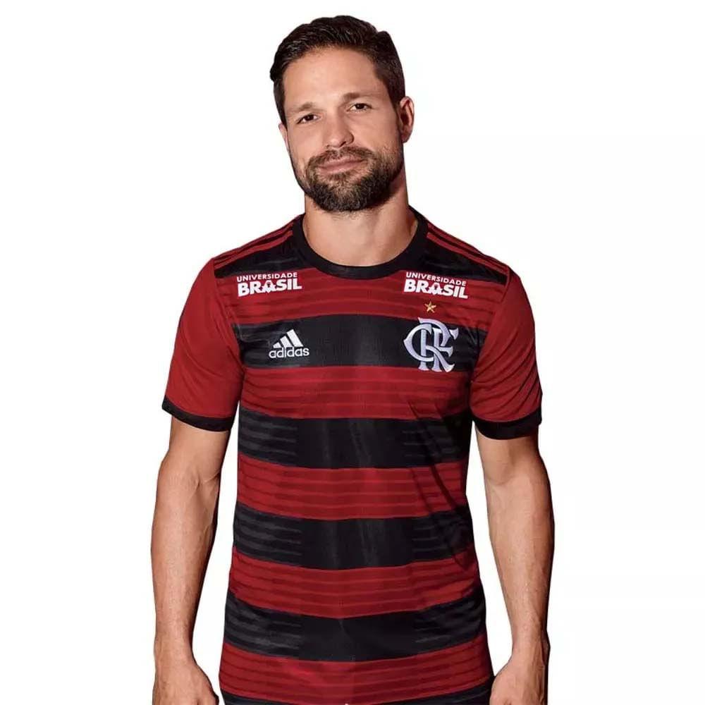 Camisa Flamengo Jogo 1 Patrocínios Adidas 2018 - EspacoRubroNegro 336b686990f4d
