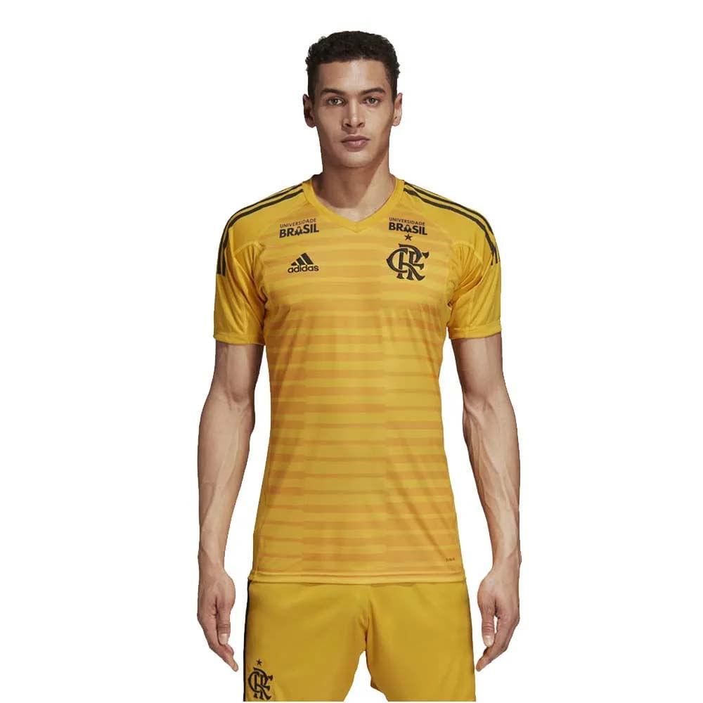 Camisa Flamengo Goleiro 1 Adidas 2018 - Com Patrocínios - EspacoRubroNegro 42af8cc2fbf72