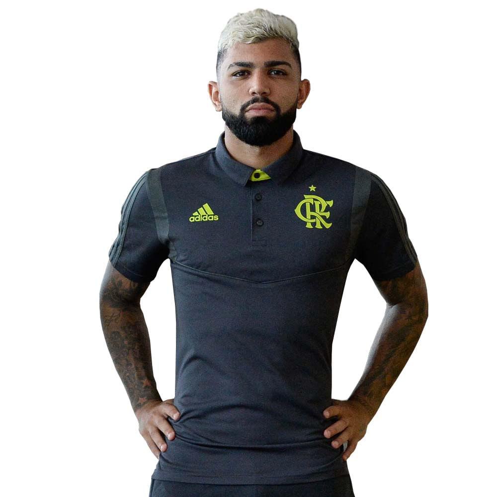 eef7f67e3 Camisa Polo Flamengo Viagem Adidas 2019 - EspacoRubroNegro