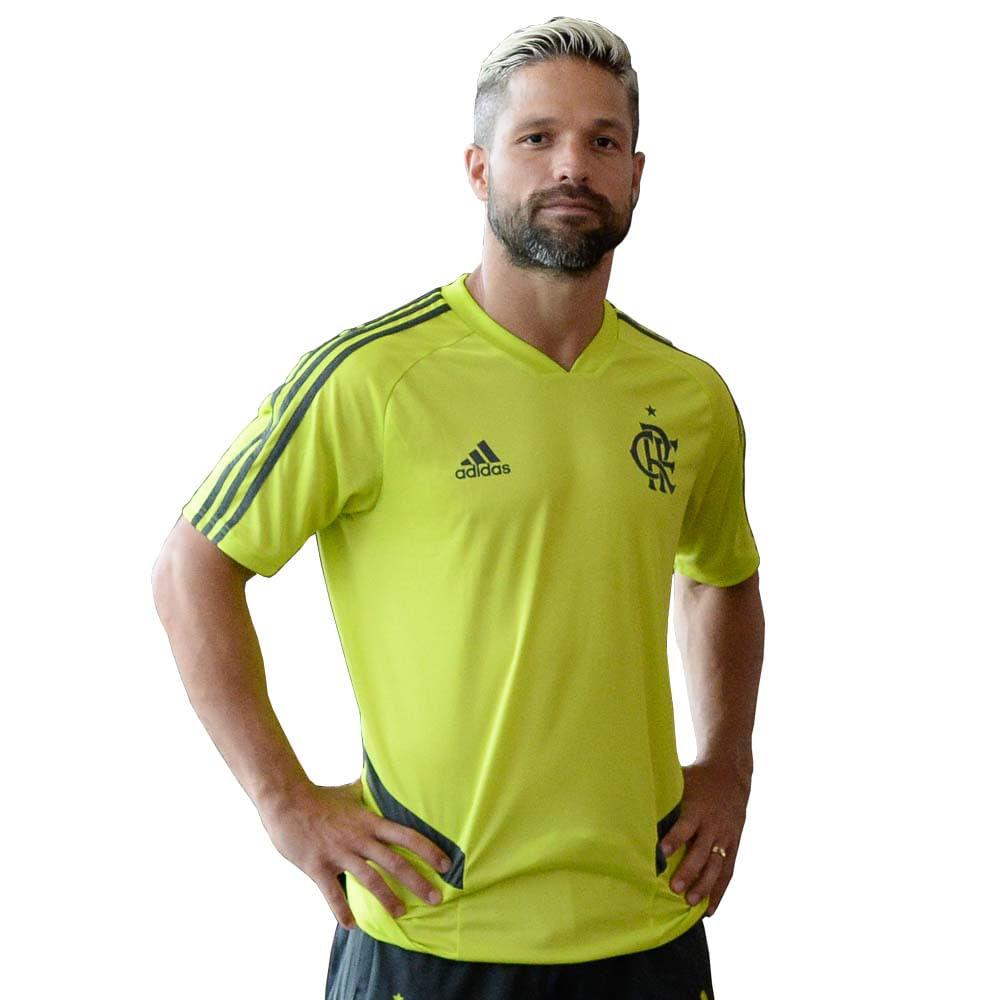 7df13aec12efc Camisa Flamengo Treino Verde Neon Adidas 2019 - EspacoRubroNegro