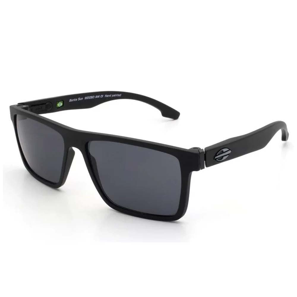 Óculos Mormaii Banks Preto Fosco Lente Cinza M0050A1401 - WQSurf d69625be8d