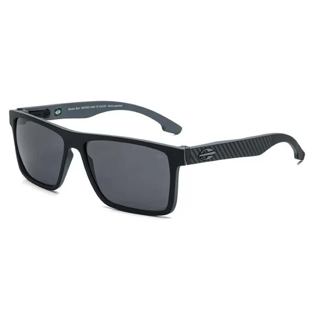 f19614329af4c Óculos Mormaii Banks Preto Parede Cinza Lente Cinza M0050AGA01 - WQSurf