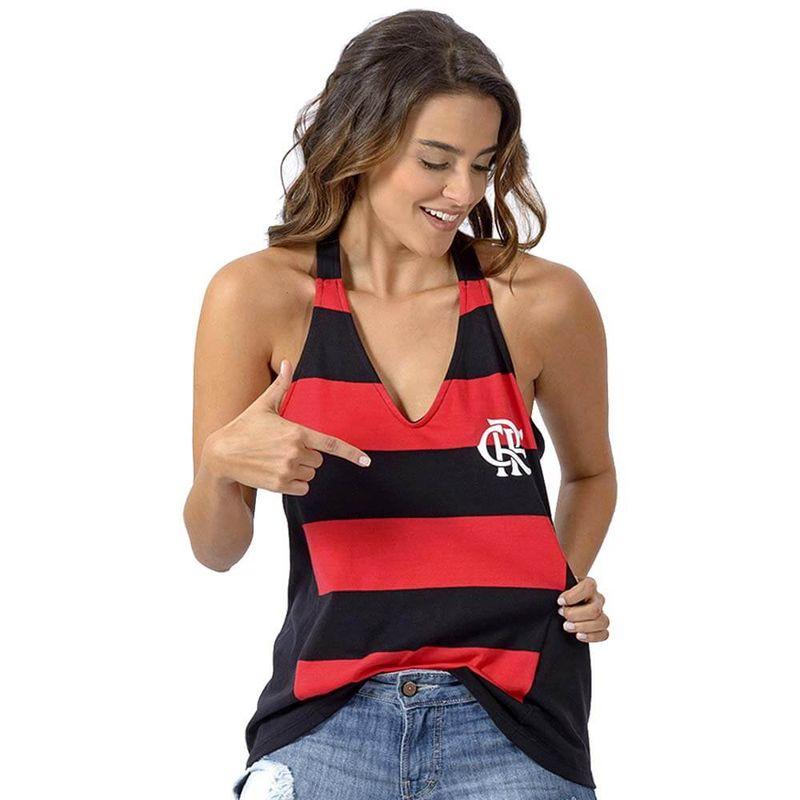cbfa775b5bf Regata Flamengo Feminina React Braziline - EspacoRubroNegro