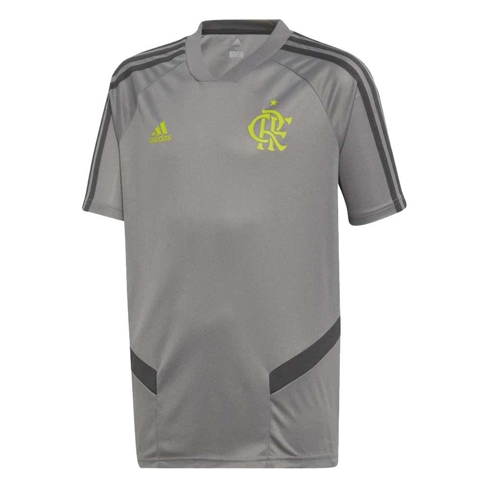 c020535276d8d Camisa Flamengo Infantil Treino Cinza Adidas 2019 - EspacoRubroNegro