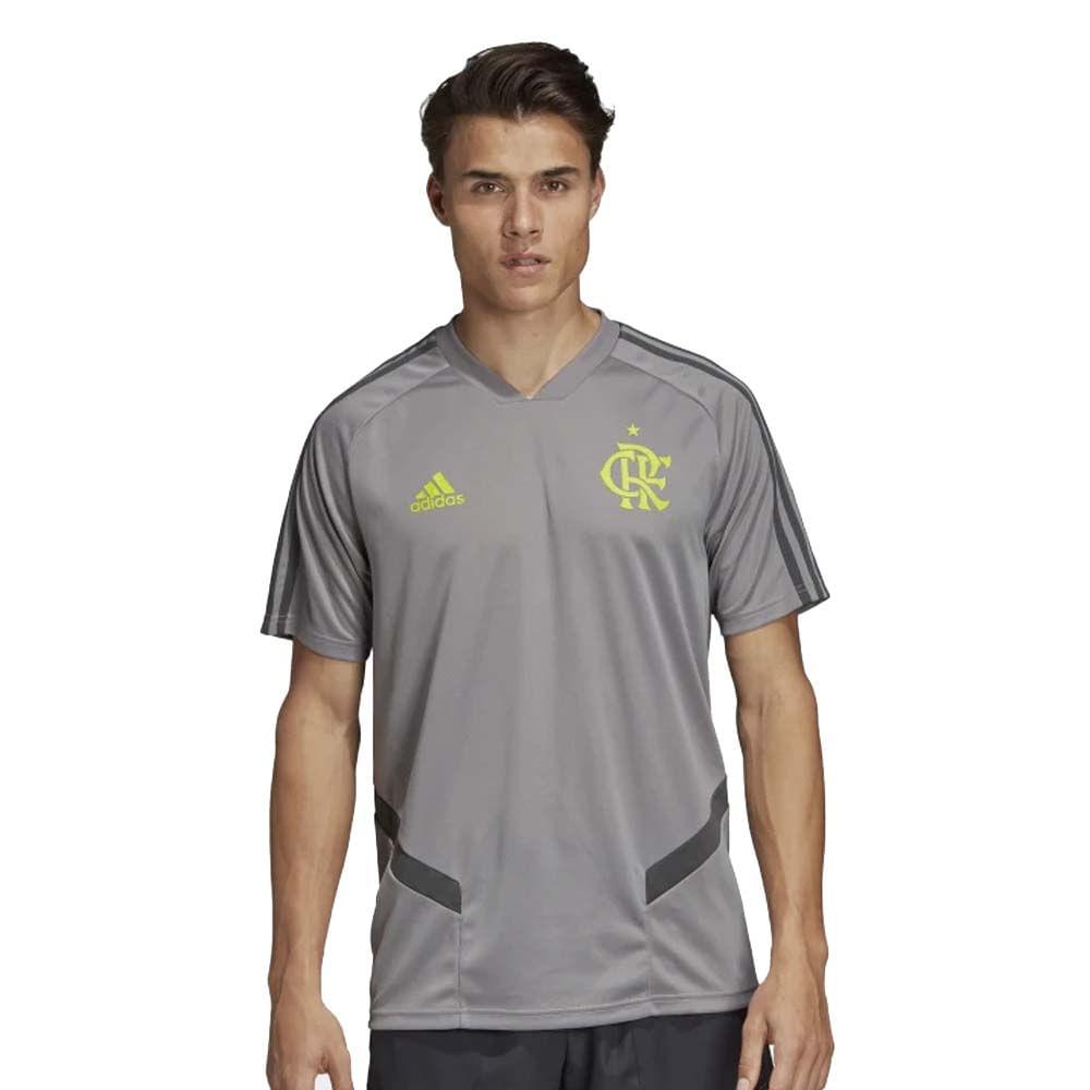1af9de8a7e Camisa Flamengo Treino Cinza Adidas 2019 - EspacoRubroNegro