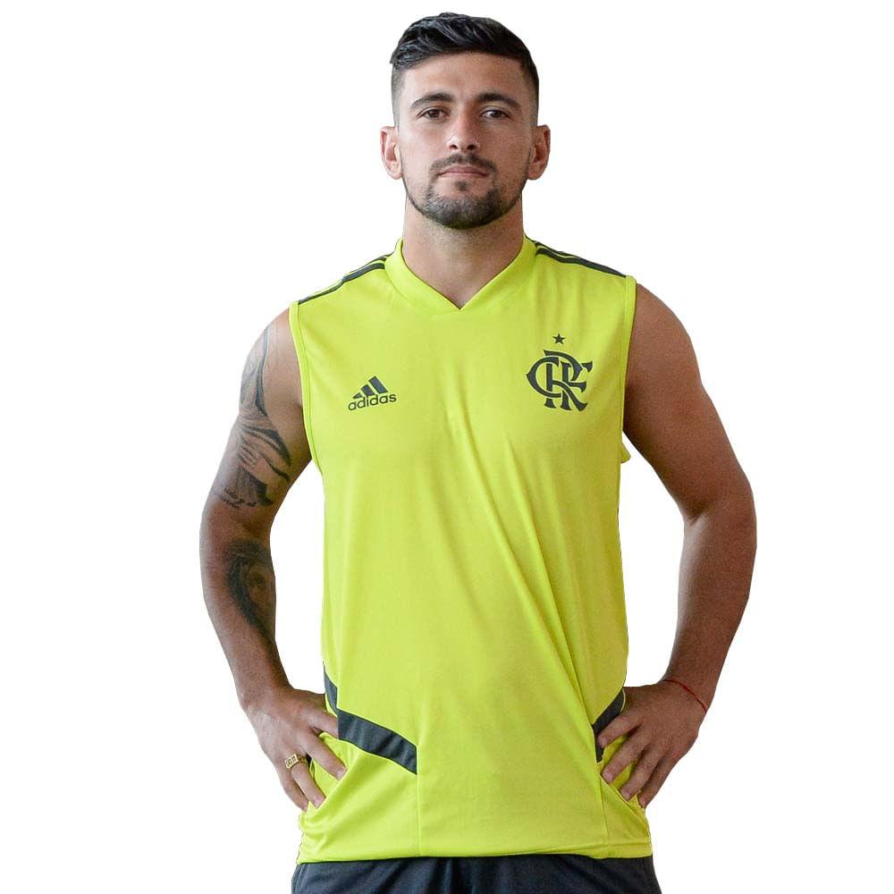 2196c5666c Regata Flamengo Treino Verde Neon Adidas 2019 - EspacoRubroNegro