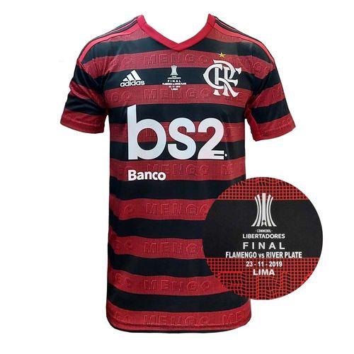 Camisa Flamengo Bs2 Jogo 1 Adidas 2019 Patch Final