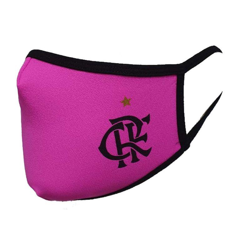 mascara-flamengo-crf-rosa-preto-beme