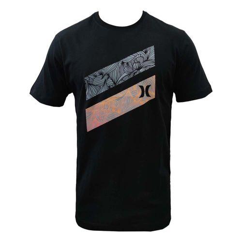 camiseta-hurley-barras-florais-preta