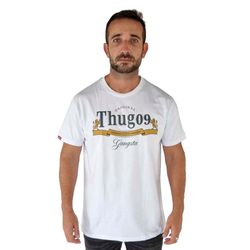 camisa-thug-nine-gangsta-branca